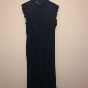Navy Blue Mermaid Evening Dress